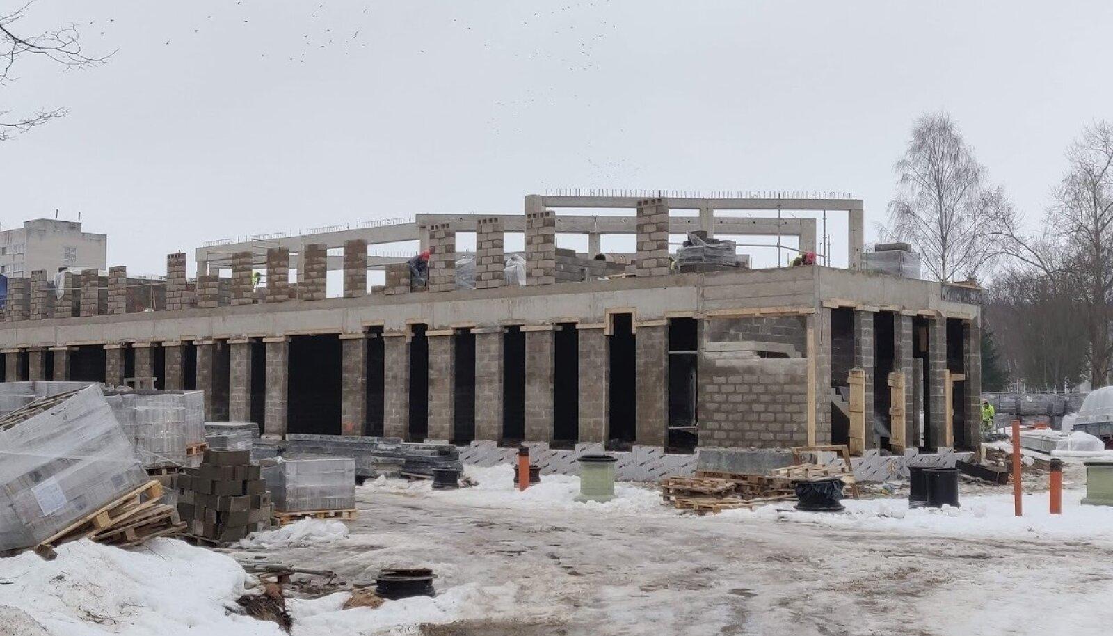 Kohtla-Järve riigigümnaasiumi ehitus tänavu veebruaris