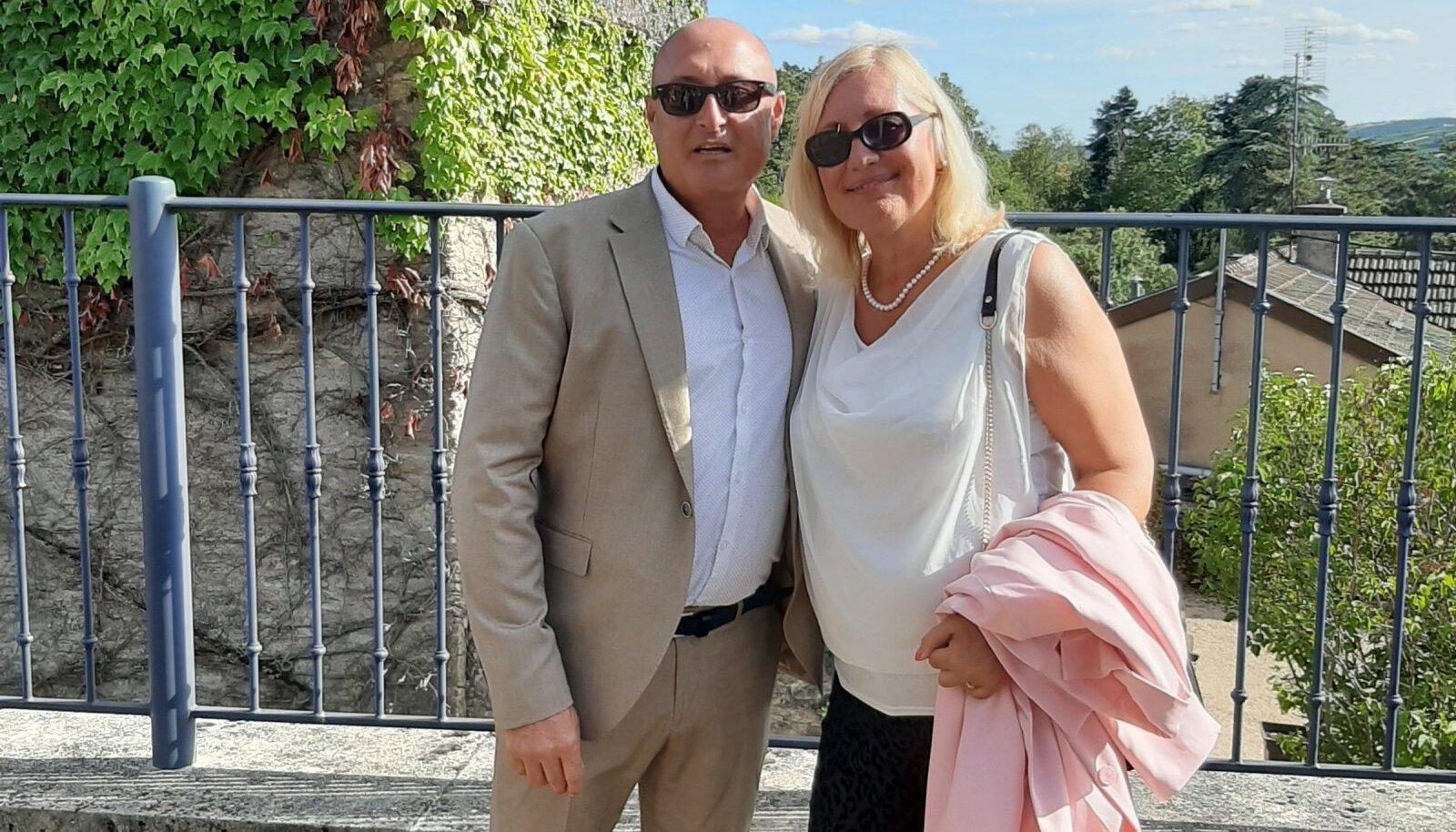 ELU ARMASTUS: Hedi Tralla ja tema elukaaslane Philippe.