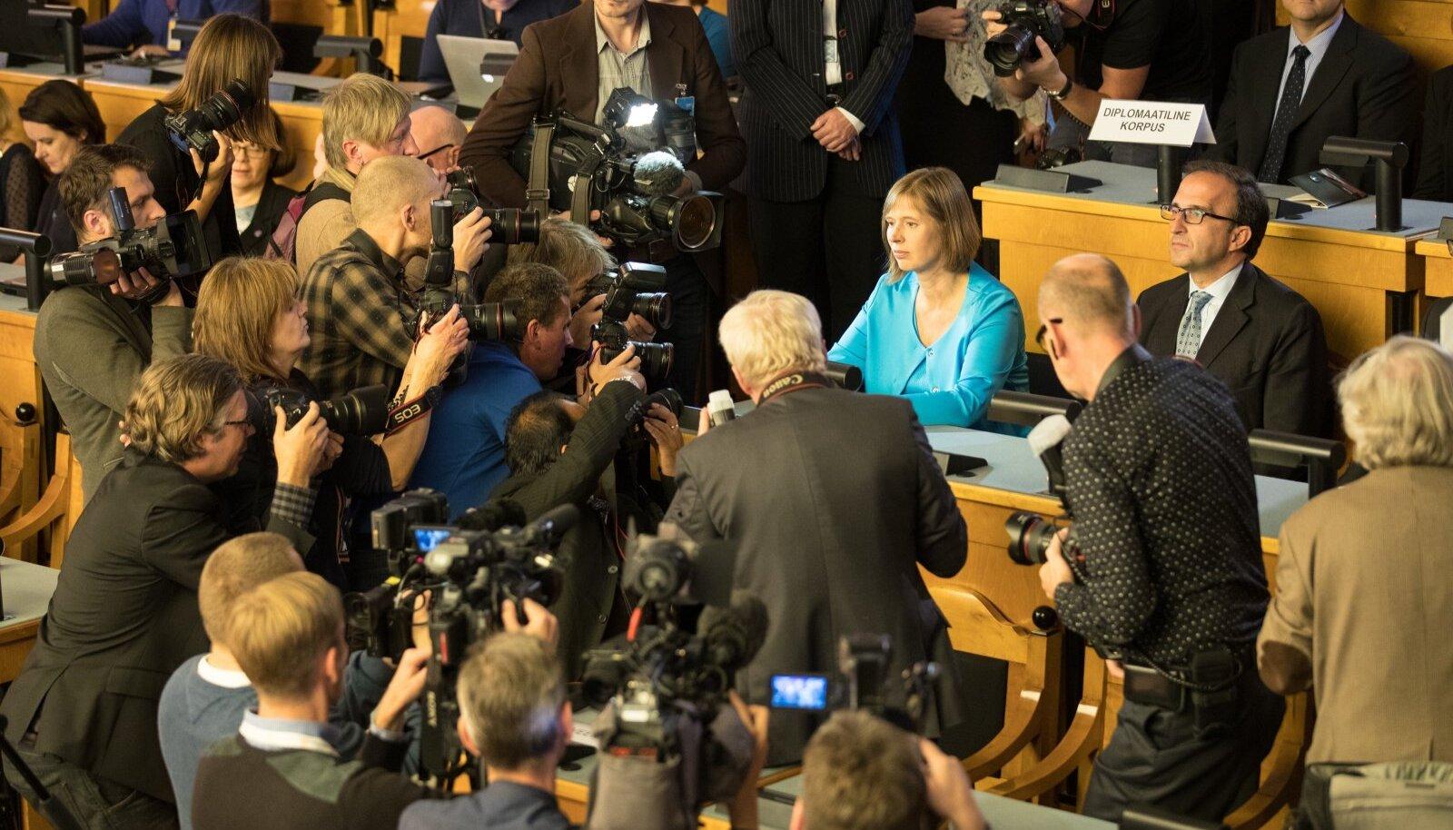 Presidendivalimiste kulminatsioon 2016. aasta 3. oktoobril, vaid seitse päeva enne Toomas Hendrik Ilvese ametiaja lõppu.