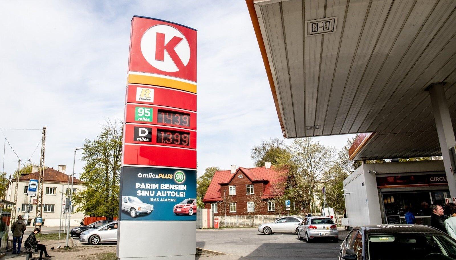 Kütusehinnad tanklates 30.04