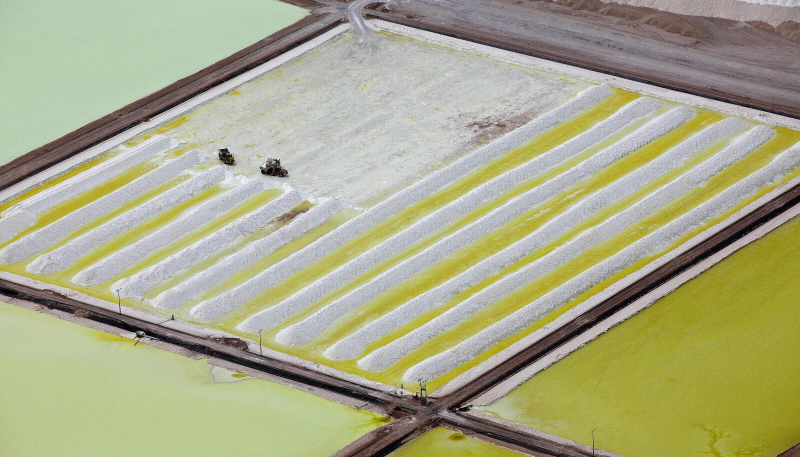 Liitiumi kaevandamine Tšiilis Atacama kõrbes