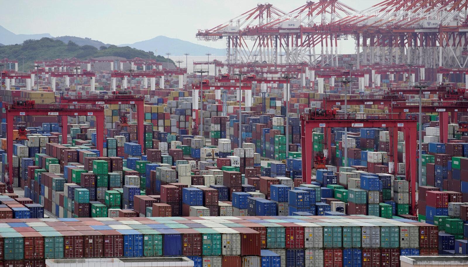 Konteinerid Shanghai sadamas
