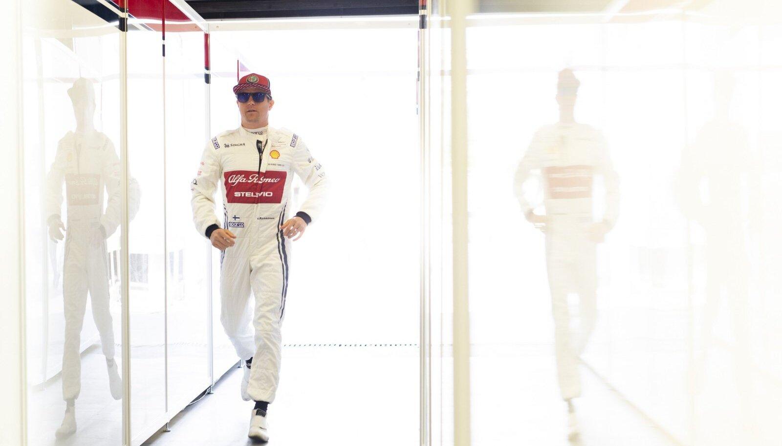 Kimi Räikkönen tänavu Aserbaidžaani GP-l.