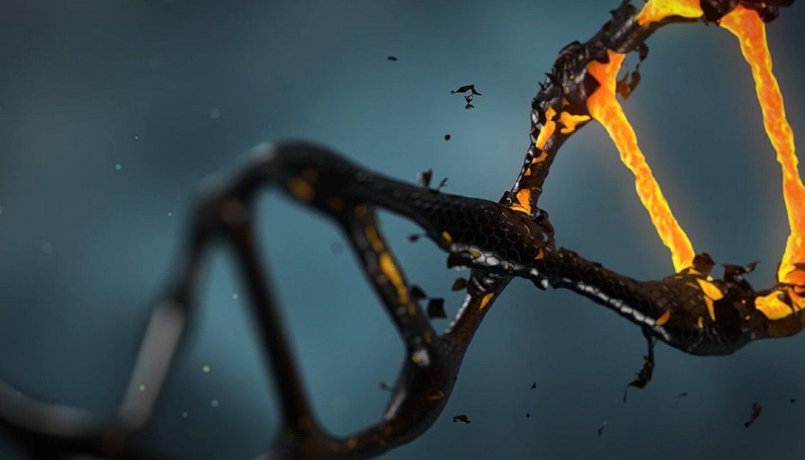 Illustratiivse tähendusega pilt DNAst (Foto: Pixabay / Iisichik)