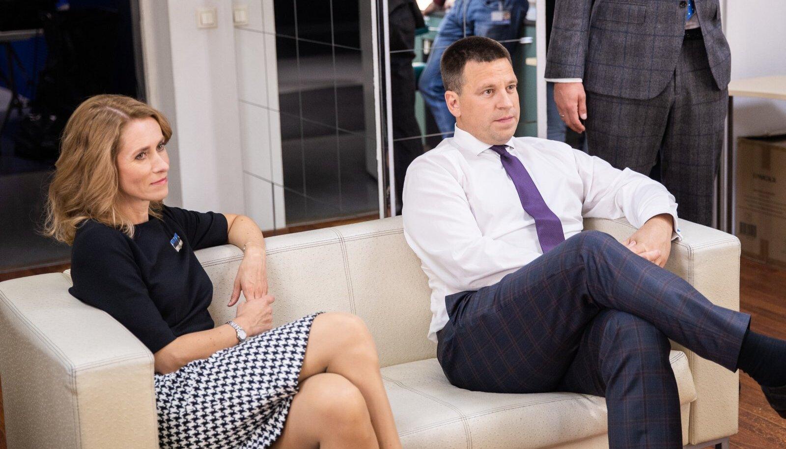 Kaja Kallas ja Jüri Ratas erakondade esindajate debatil ERRis tänavu augusti lõpus.
