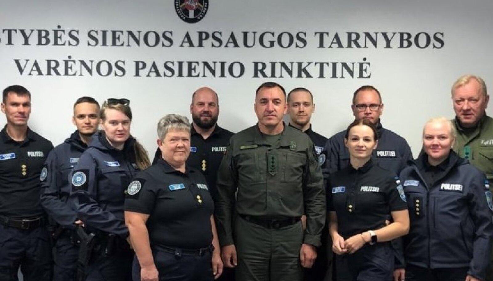 ESTPOL meeskond aitab Leedus piiri turvata.
