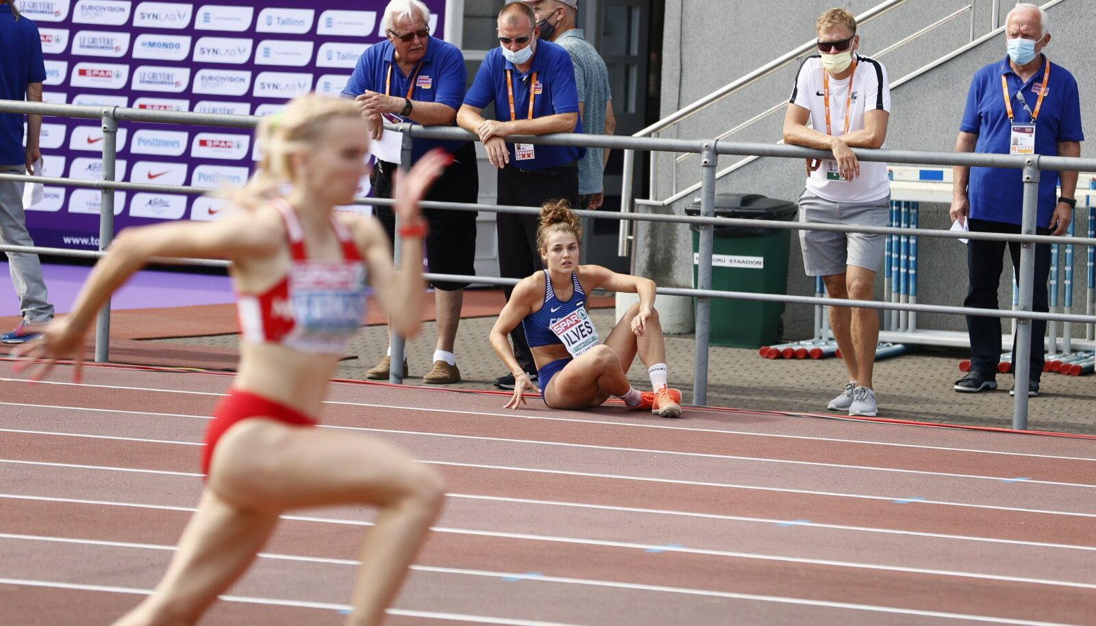 Ärevad hetked: Lishanna Ilves jälgib treener Mikk Jooritsaga, kas ta ikka saab edasi.