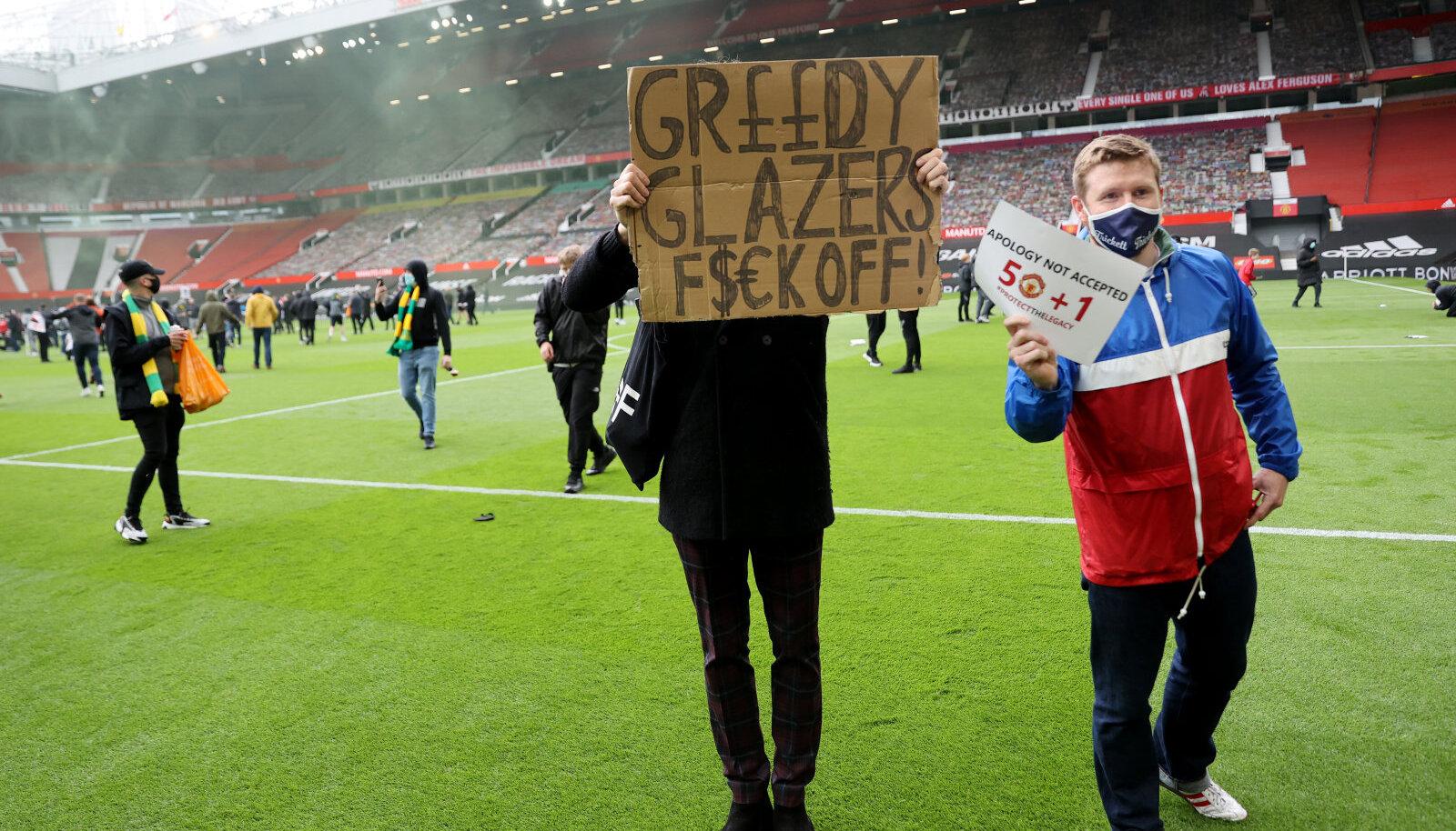 Manchester Unitedi fännid Old Traffordil
