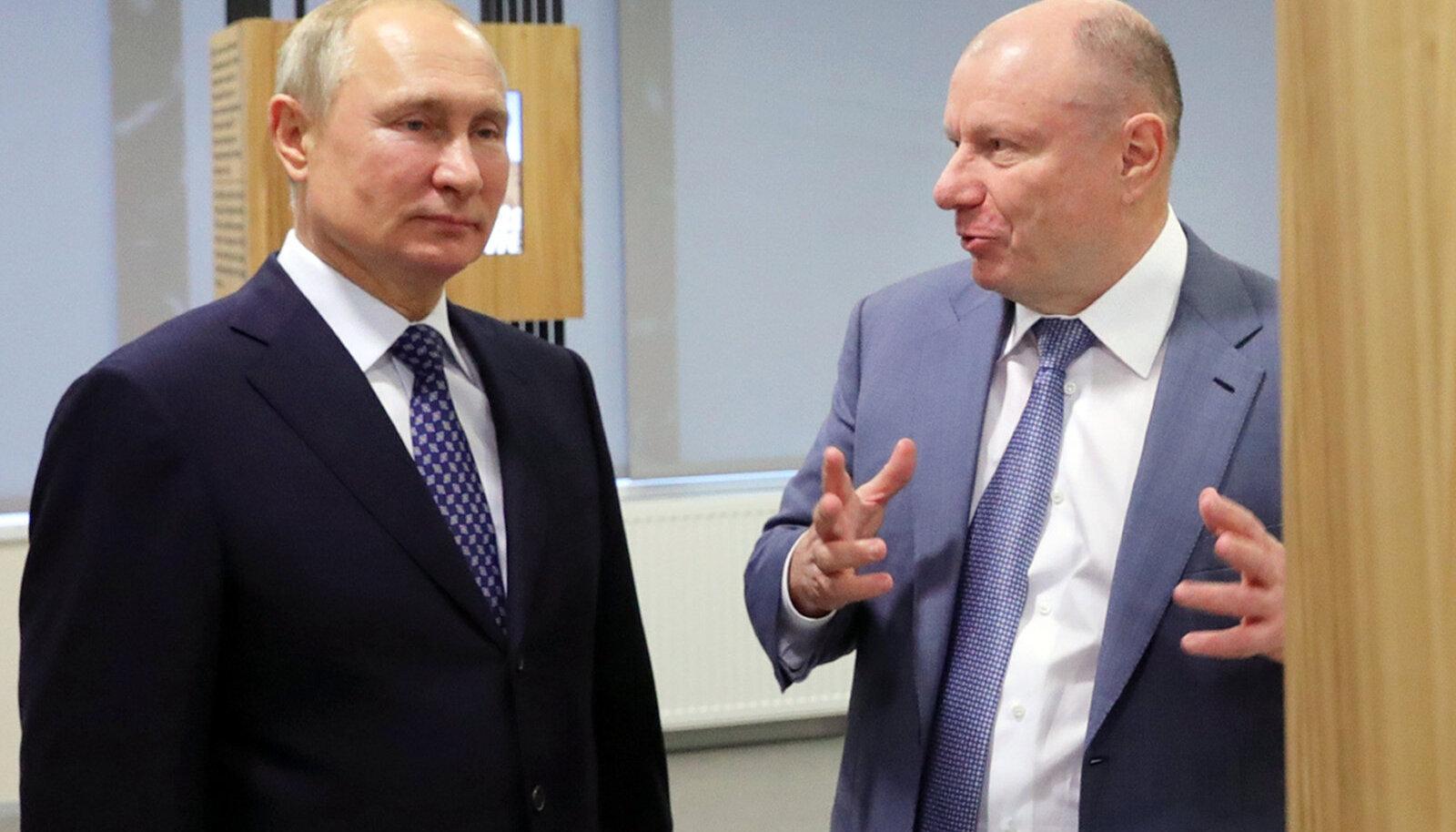 Vladimir Putin ja Vladimir Potanin.