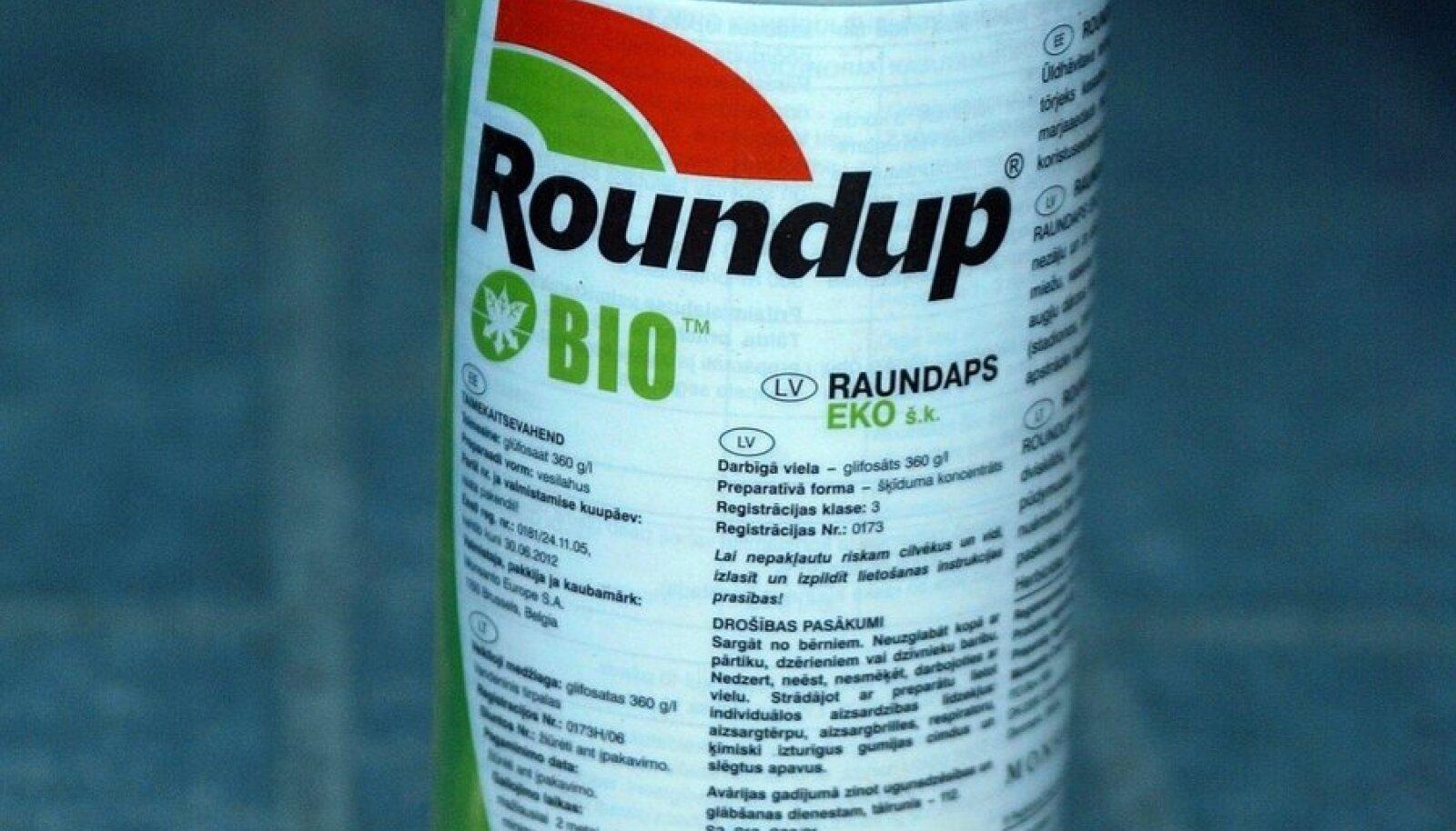 Pestitsiid Roundup.