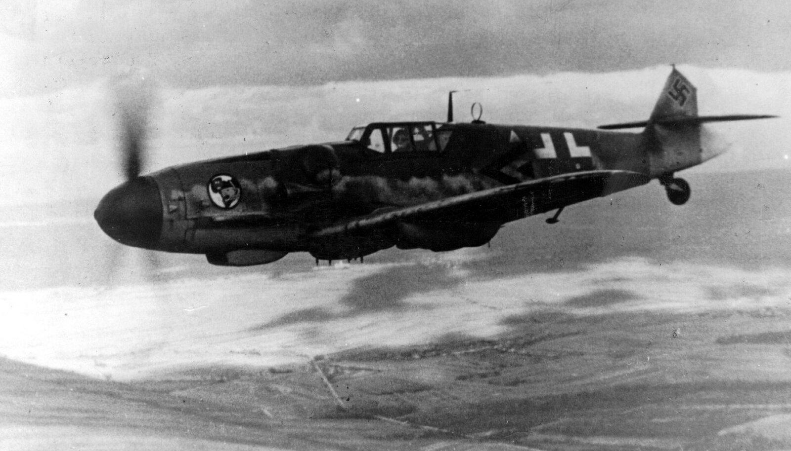 Немецкий самолет  Messerschmitt Bf.109