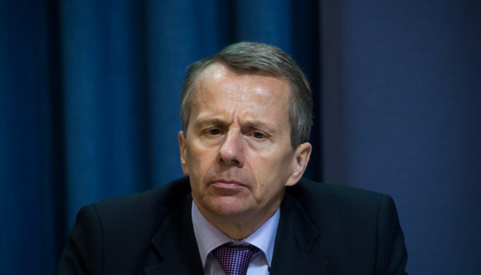 Rahvusvahelise Valuutafondi (IMF) Eesti missiooni lõpukohtumise pressikonverentsjürgen ligi, ardo hansson, thomas dorsey