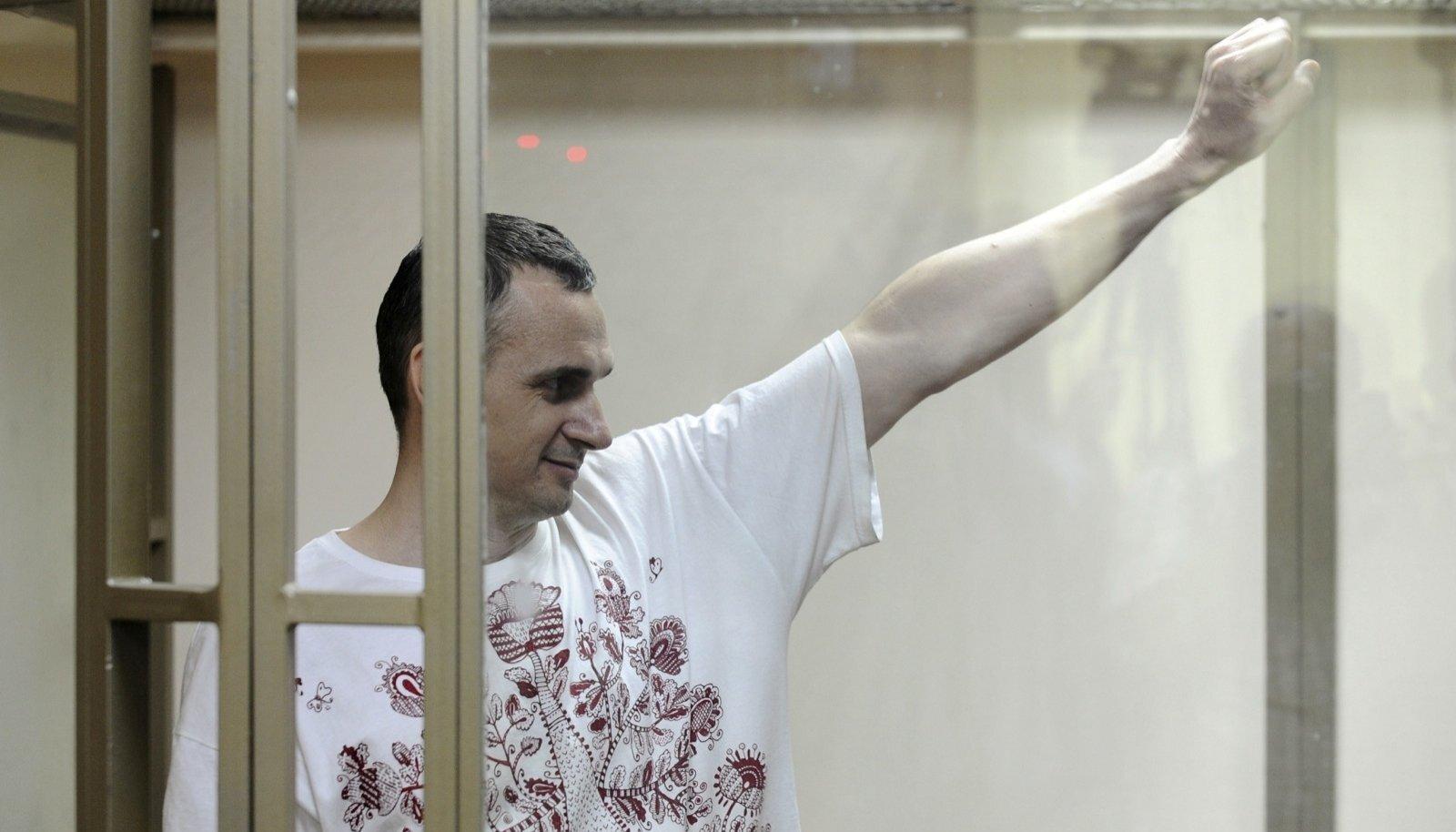 Oleg Sentsov 2015. aastal, kui talle määrati 20-aastane vangistus Siberis.