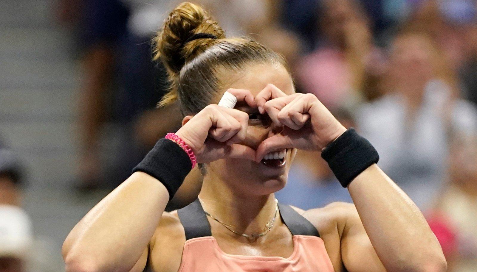 Maria Sakkari jõudis teistkordselt suure slämmi turniiril poolfinaali.