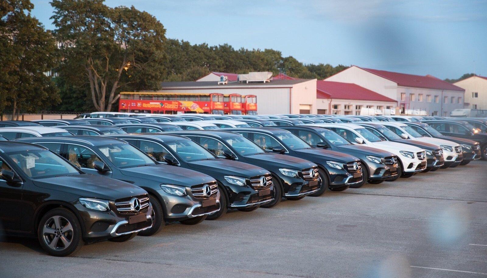 Müügiks valmis olevad autod