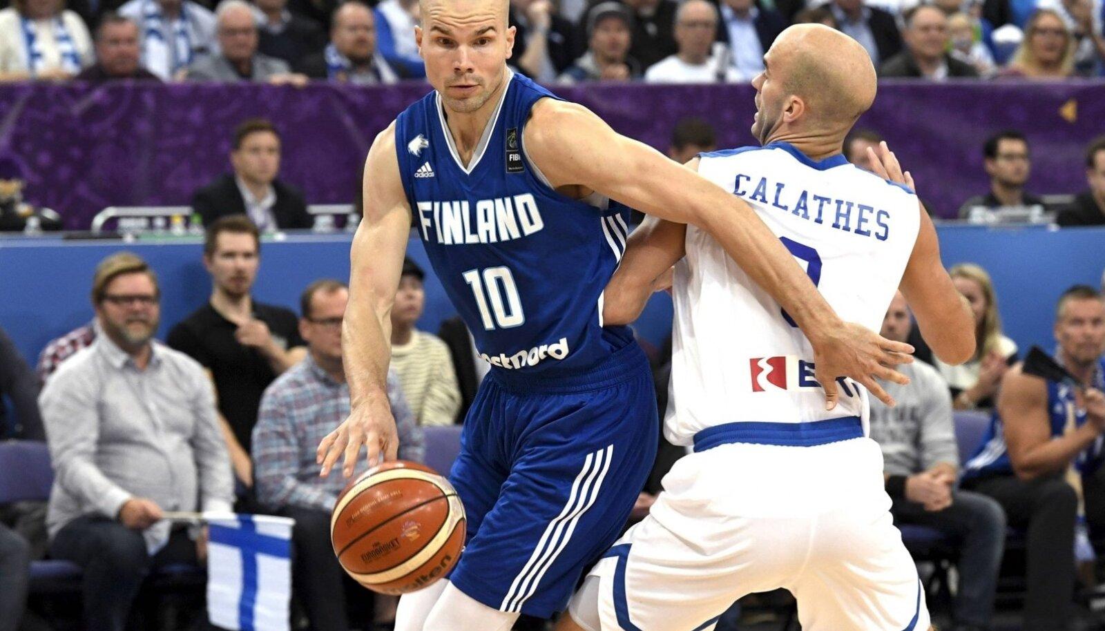Korvpalli EM-i kohtumine Soome - Kreeka