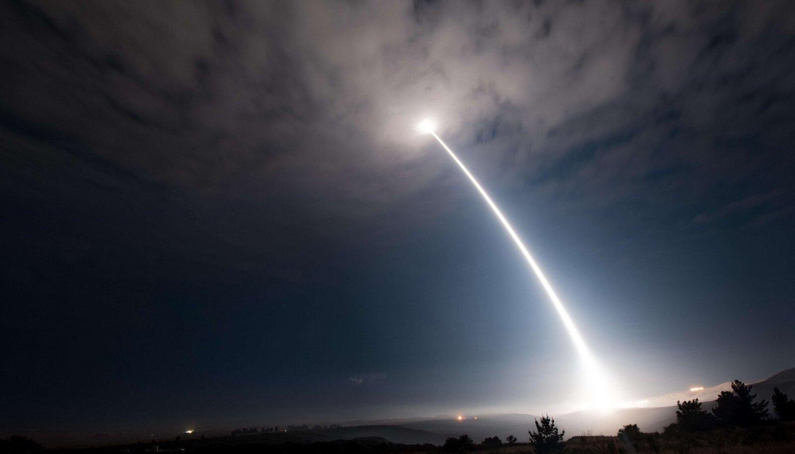 Illustreerival eesmärgil: USA testis Minuteman III-raketi teelesaatmist, mis on uue kalli GBSD-raketi eelkäija (foto: SIPA / Scanpix)