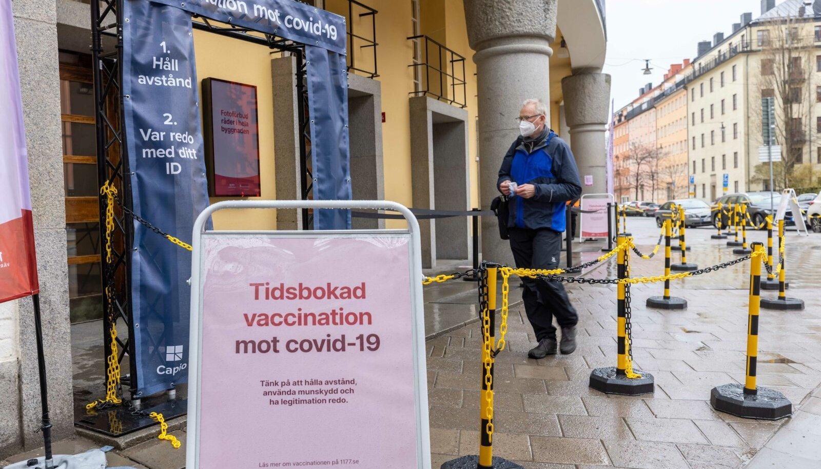 Vaktsineerimiskeskus Stockholmis.