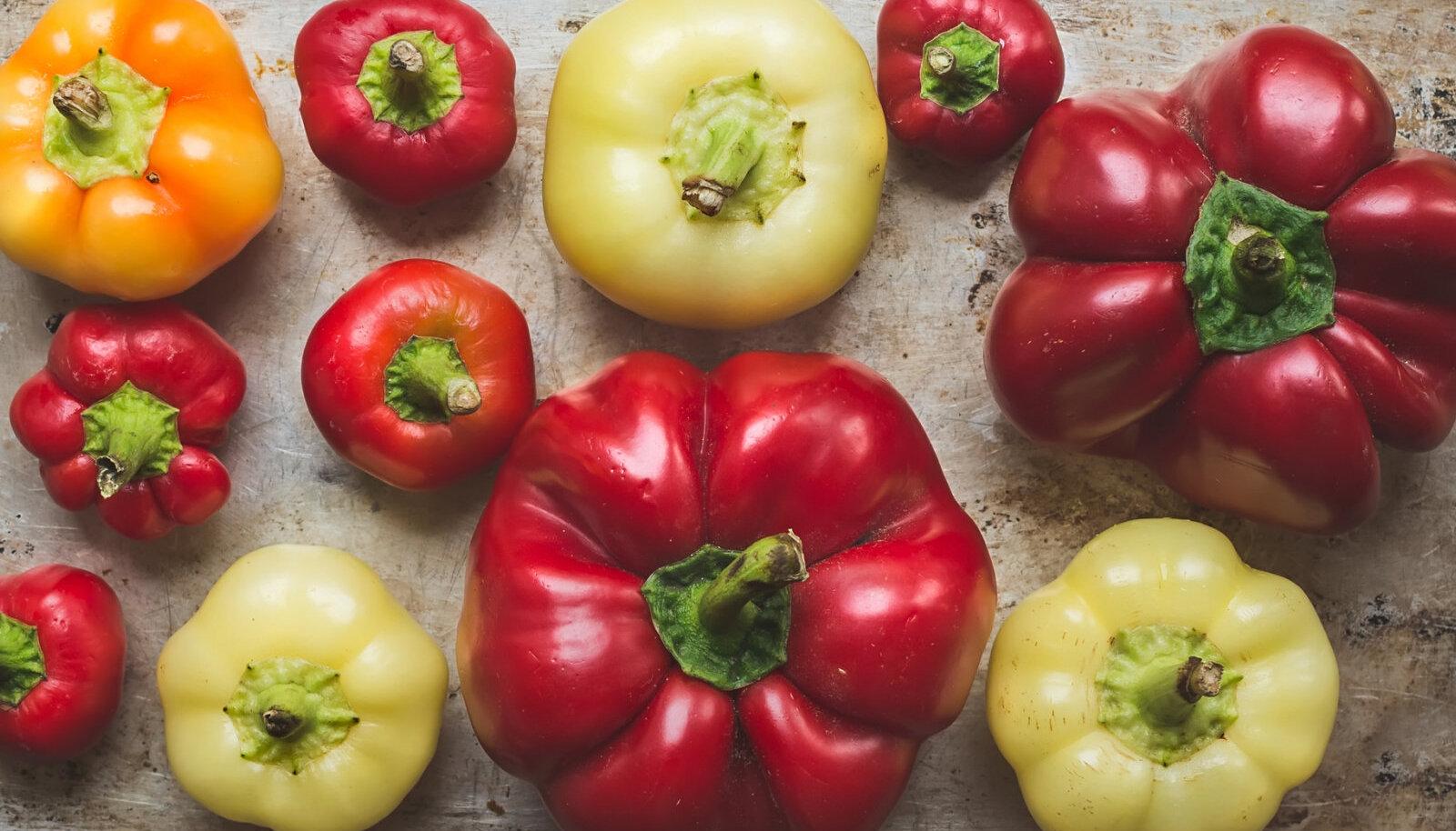Punane paprika ületab C-vitamiini sisalduselt nii apelsini kui ka sidruni