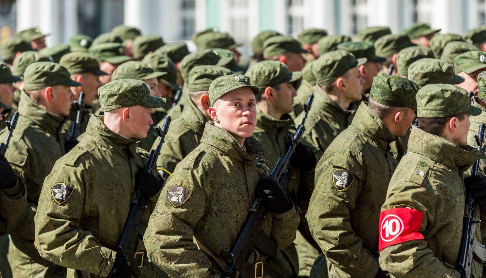 9. Mai paraadi ettevalmistused Sankt-Peterburgis