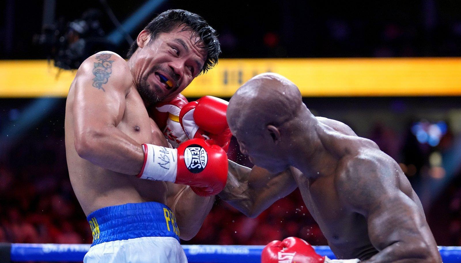 Manny Pacquiao (vasakul) kaotas Yordenis Ugasele.
