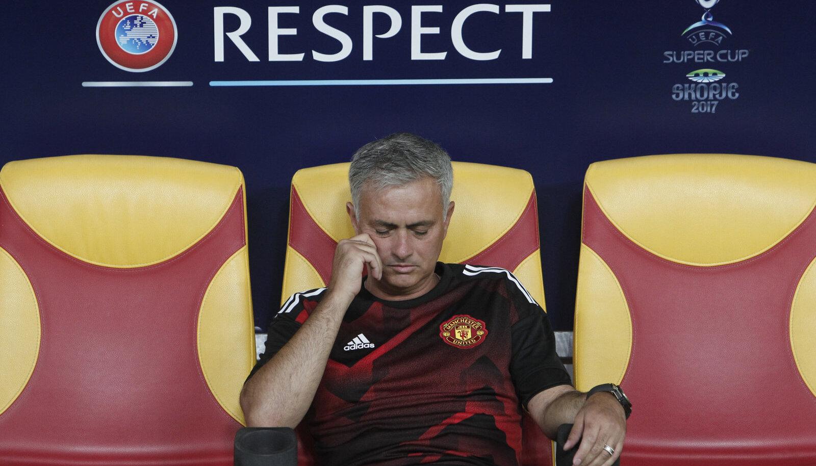 Jose Mourinho 2017. aasta augustis superkarikamängul Skopjes.