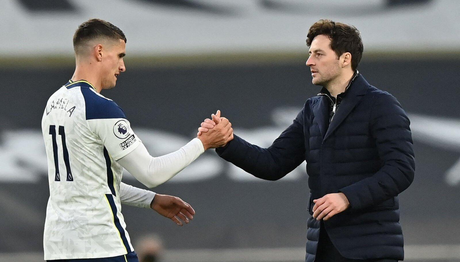 Tottenham Hotspuri peatreener ja Erik Lamela