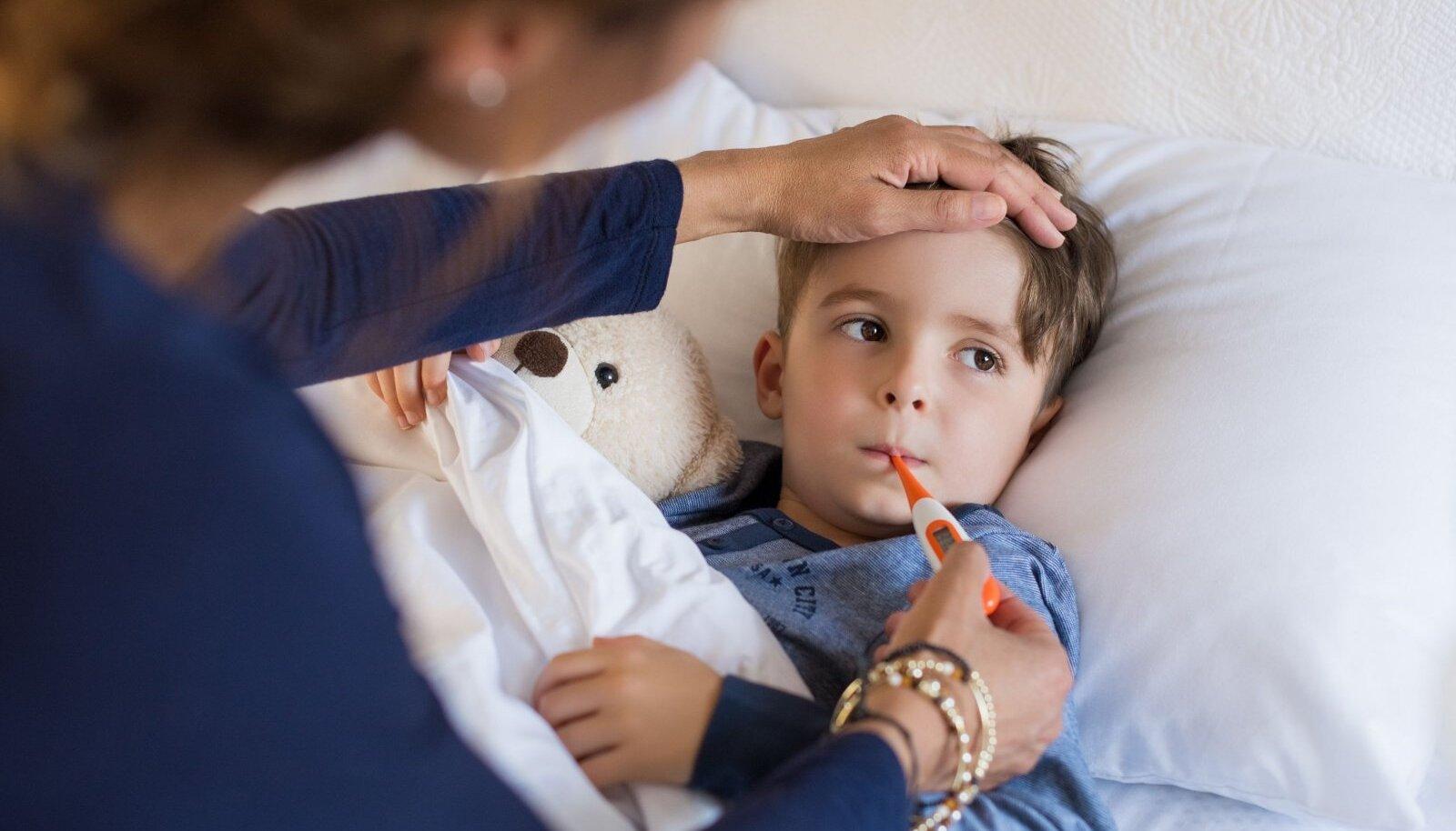 Lapsed on pidevalt haiged