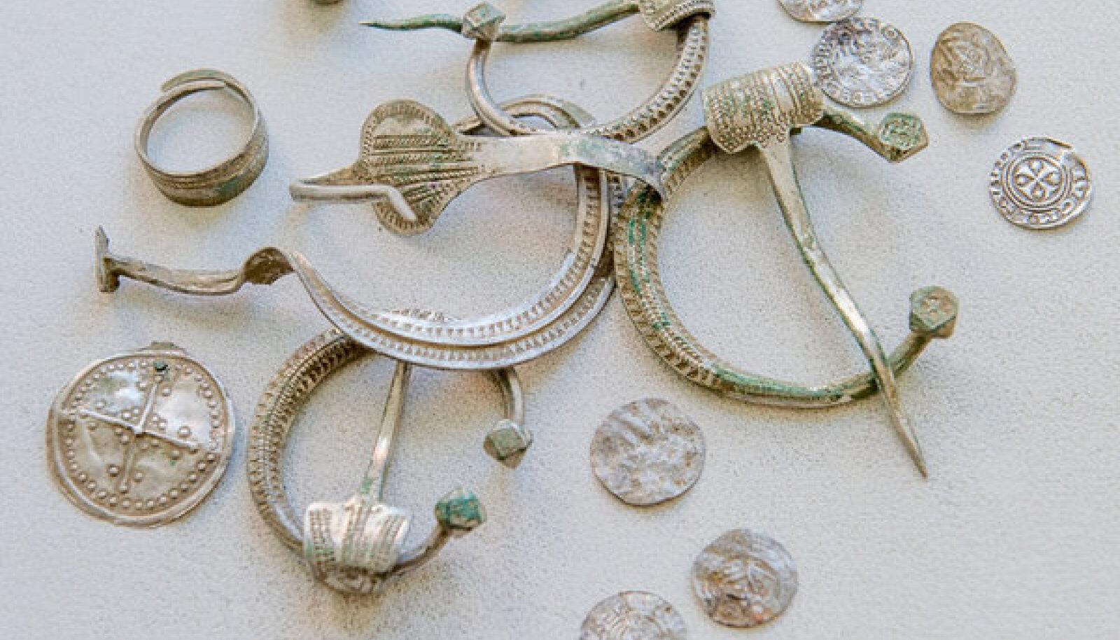 Aare koosneb hoburaudsõlgedest, rinnalehtedest, sõrmusest, kaalupommikesest ja müntidest.