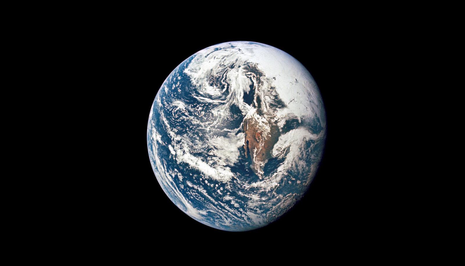 1969. aastal kosmoselaeva Apollo 10 pardalt tehtud jäädvustus Maast.