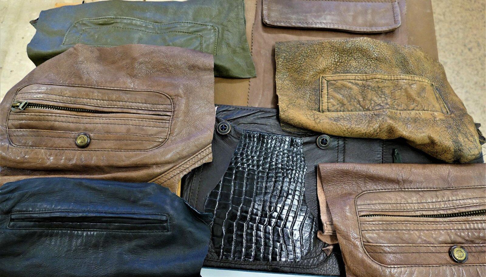 Erineva kuju ja suurusega taskud taaskasutusest.