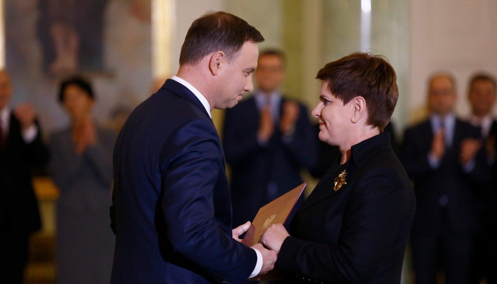 Andrzej Duda ja Beata Szydło