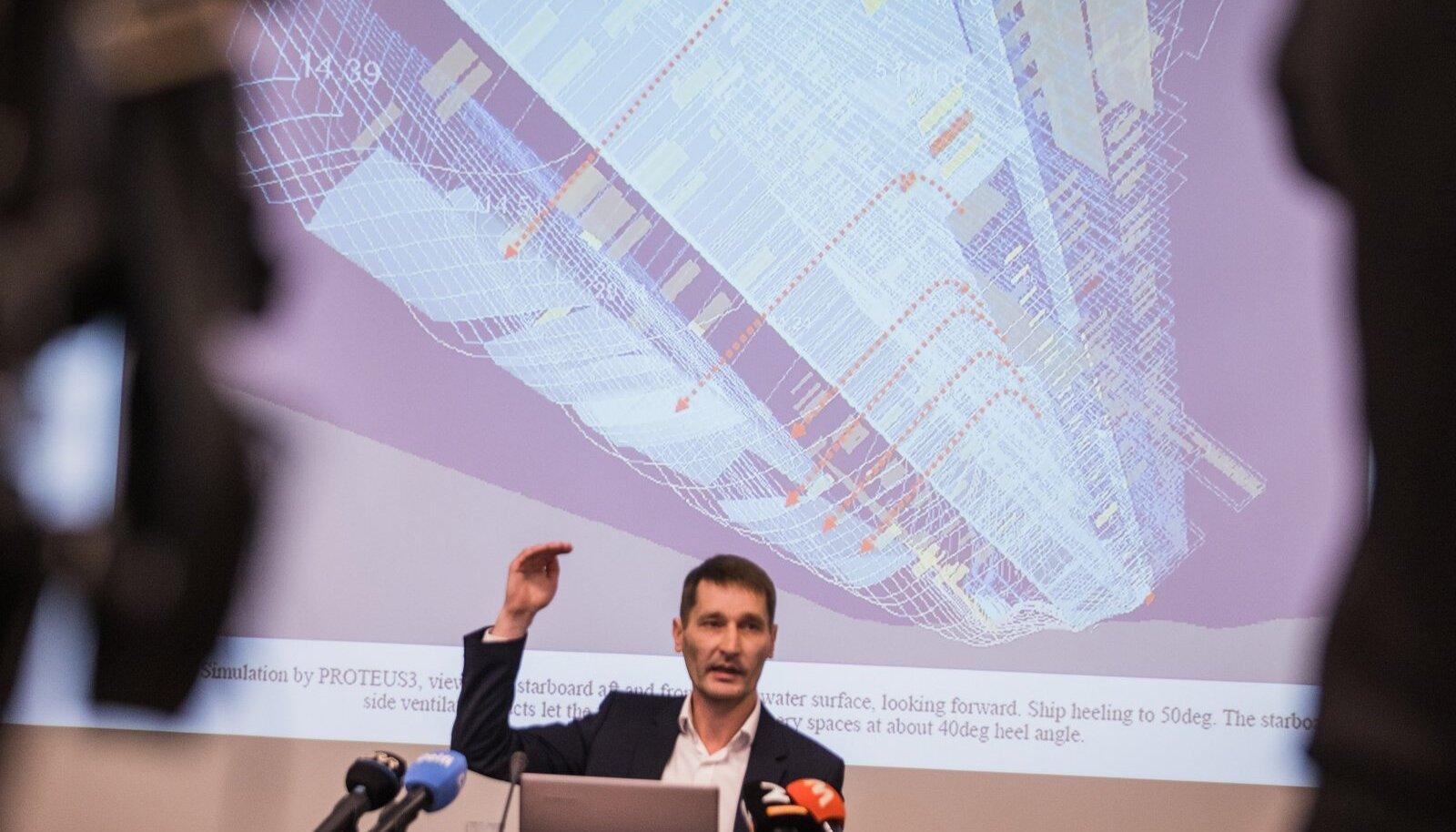 Estonia laevahuku uurimise pressikonverents 12.10.2021