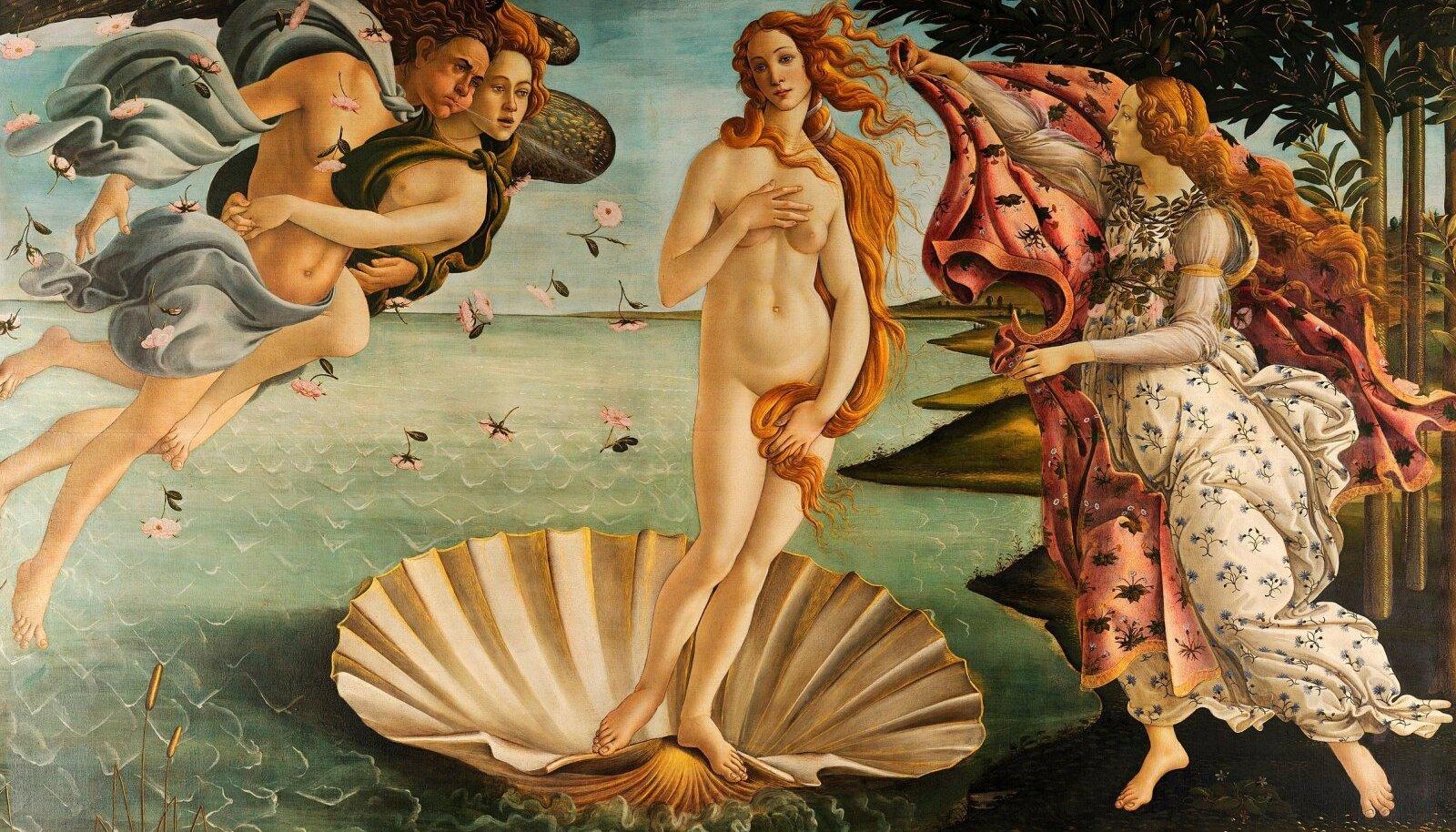 """Sandro Botticelli, """"Veenuse sünd""""."""