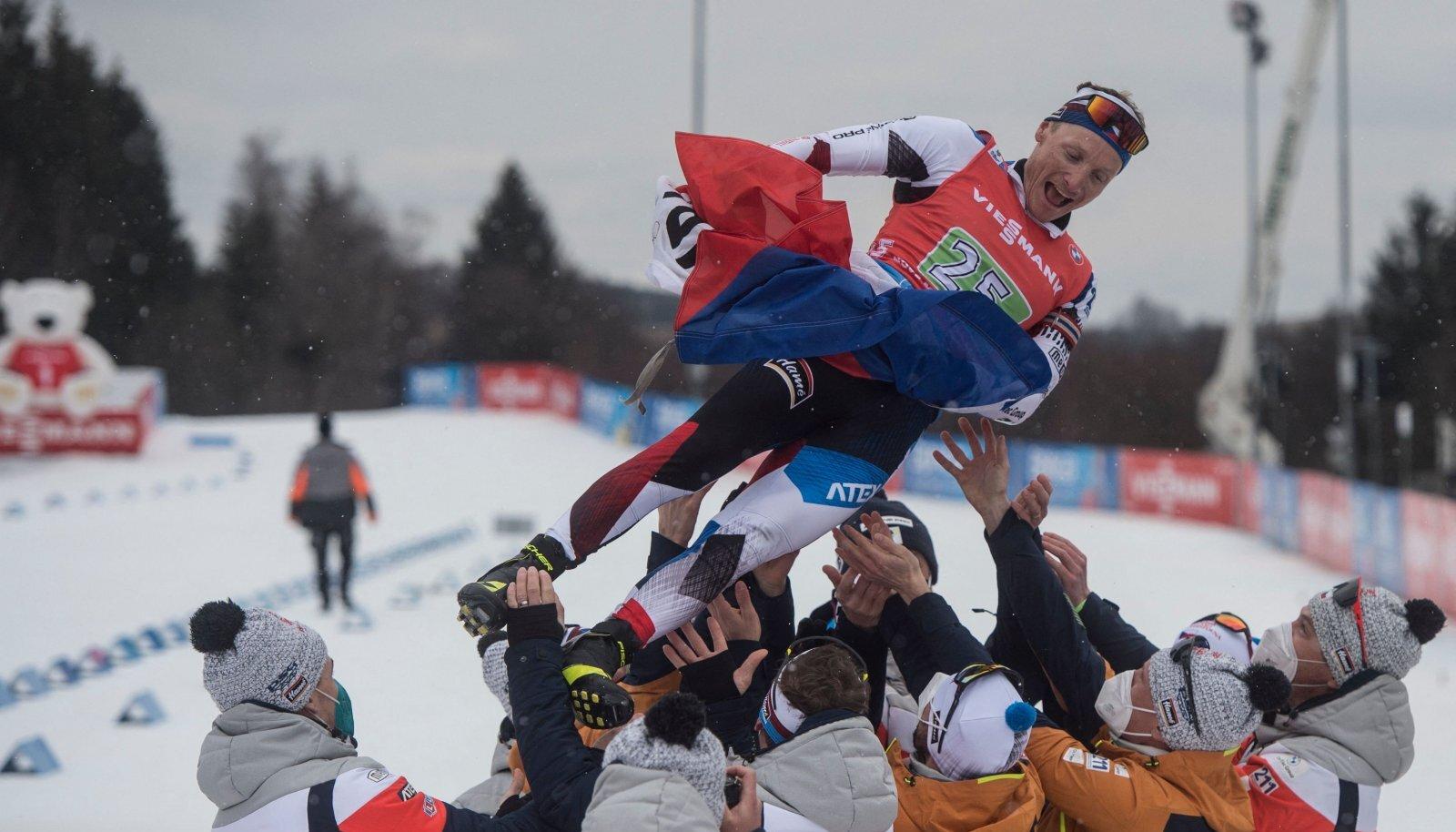 Ondrej Moravec pärast karjääri viimast võistlust.