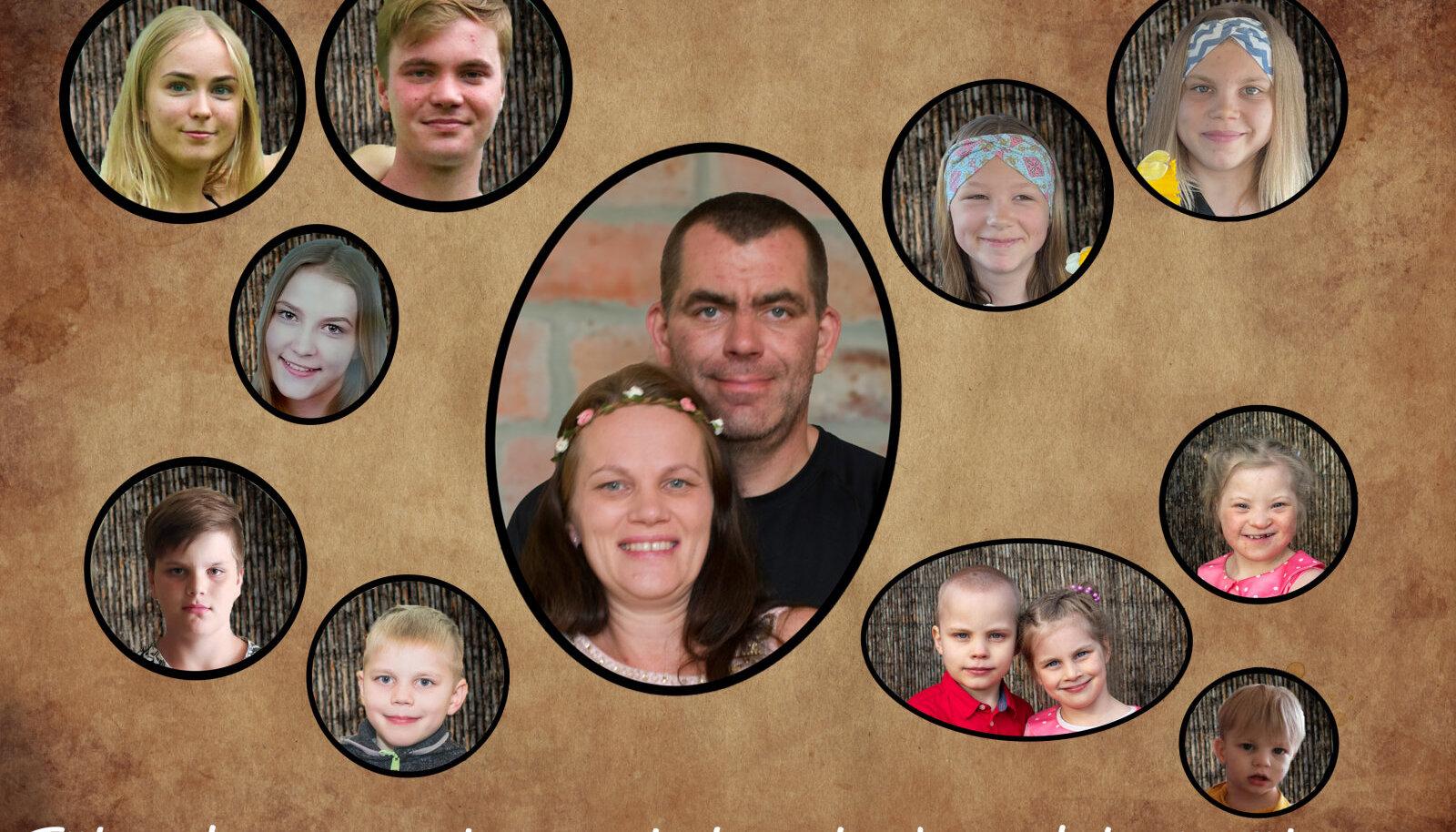 Janika Kleini ja Marko Junineni perekond