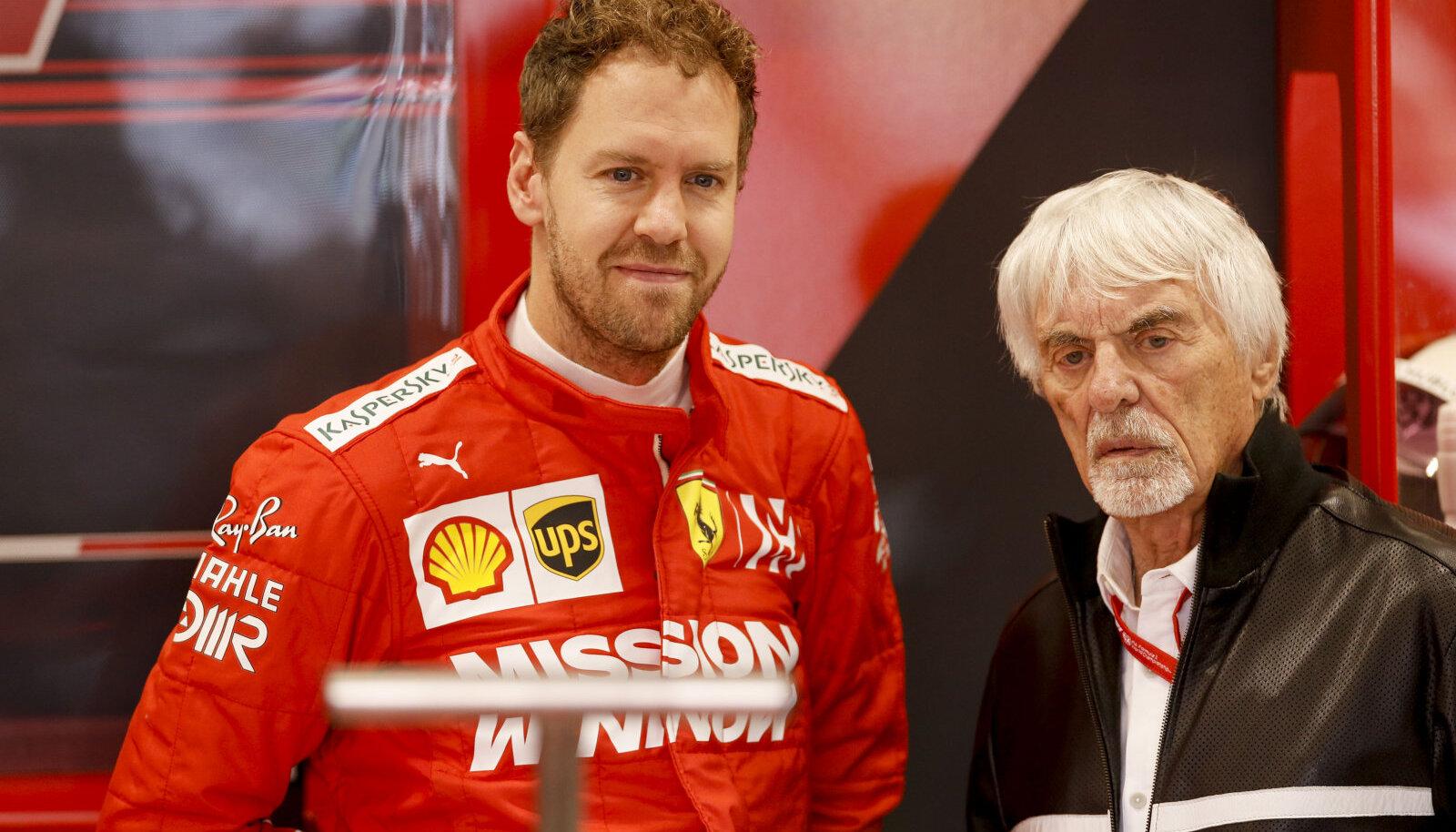 Sebastian Vettel ja Bernie Ecclestone