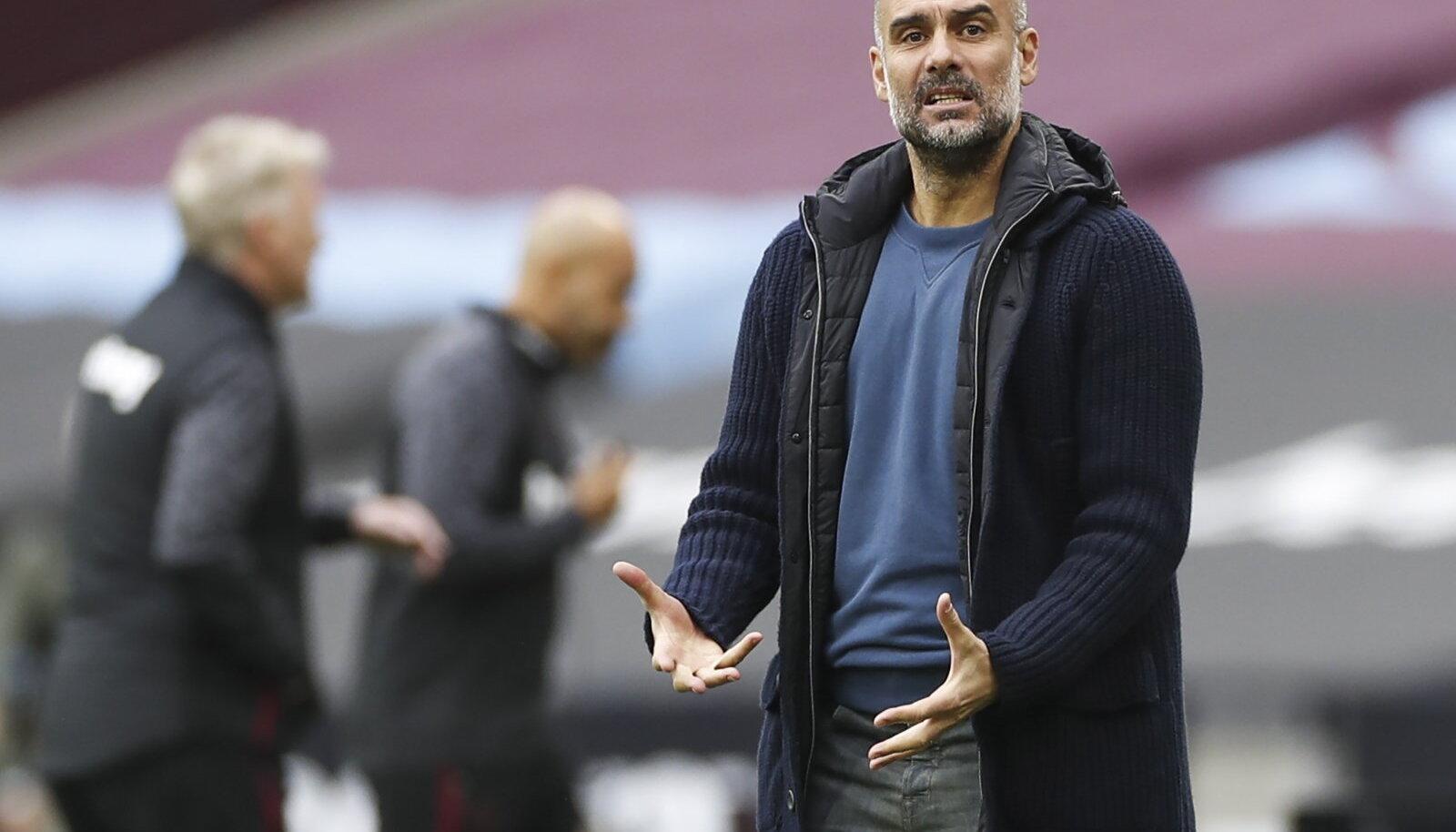 Manchester City peatreener Pep Guardiola.