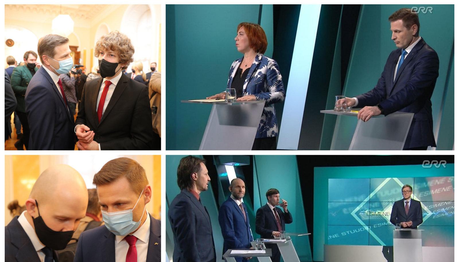 Teisipäeval osales Hanno Pevkur uue valitsuse ametisse astumise tseremoonial, kolmapäeva õhtul aga astus üles ERR otse-eetris koos Martin Helme, Helir-Valdor Seederi, Mailis Repsi ja Johannes Trallaga.