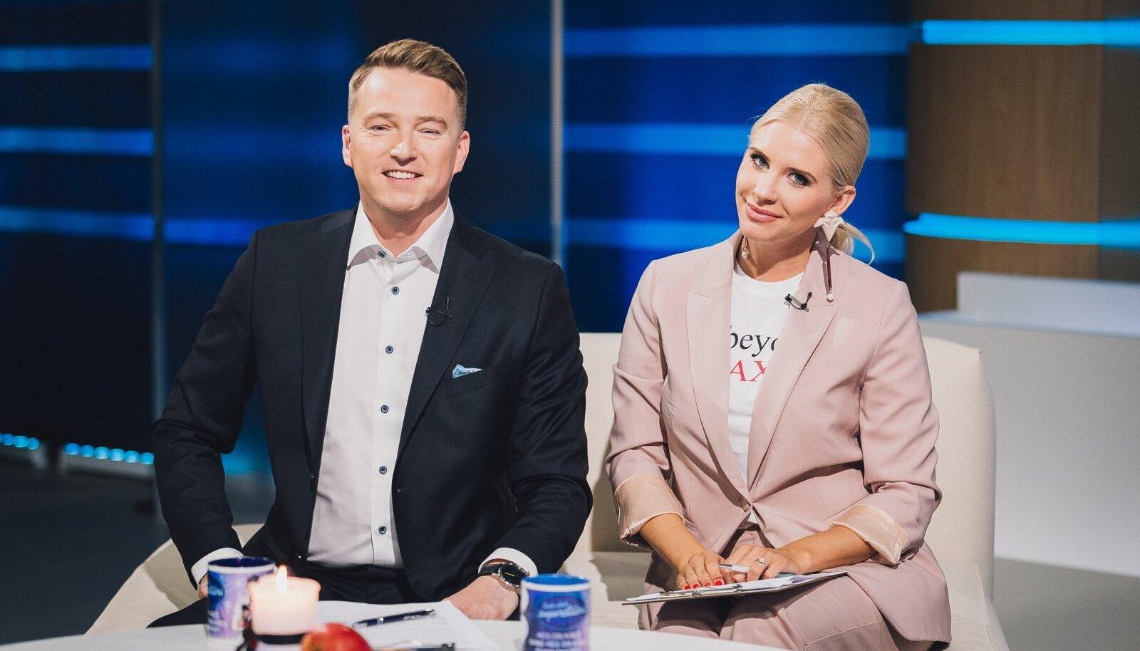 """Argiõhtuti juhib uudistemagasini """"Seitsmesed"""" uus saatejuhtide paar – Marek Lindmaa ja Kethi Uibomägi."""