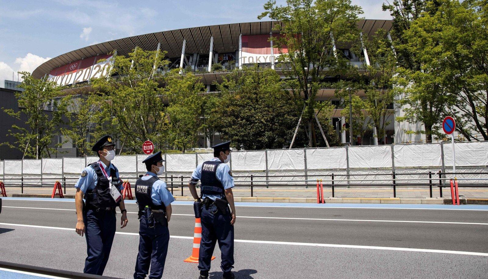 Jaapani politseinikud Tokyos