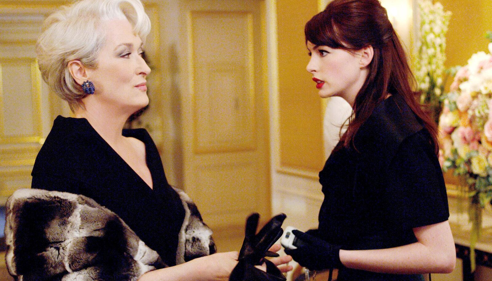 """Meryl Streep ja Anne Hathaway filmis """"Saatan kannab Pradat"""""""
