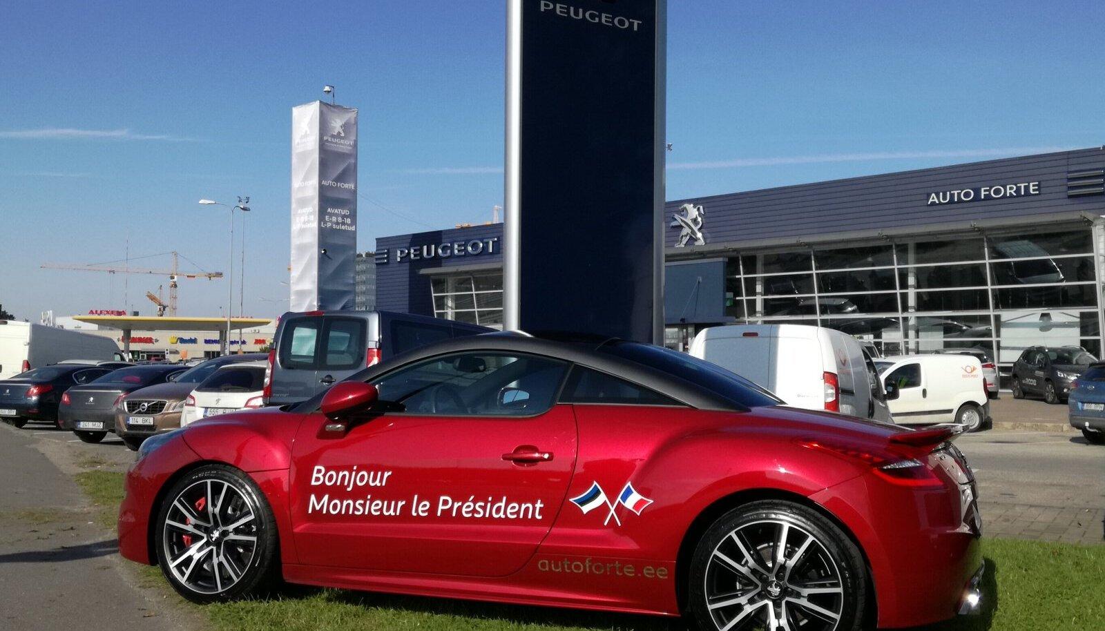 Pegueot'i esinduse esine on Prantsusmaa presidendi tulekuks valmis