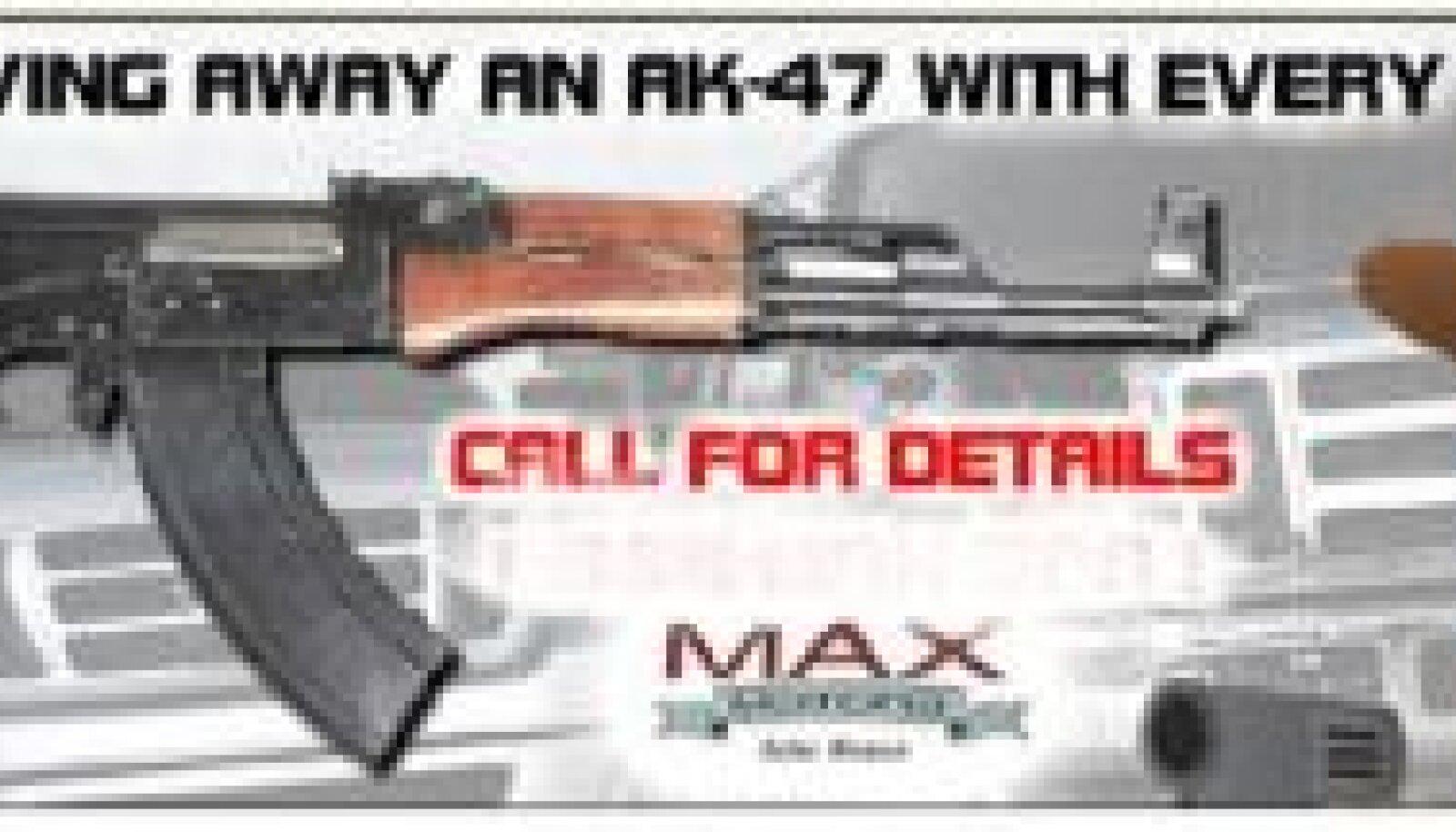 Max Motors jagab klientidele AK-47 automaate