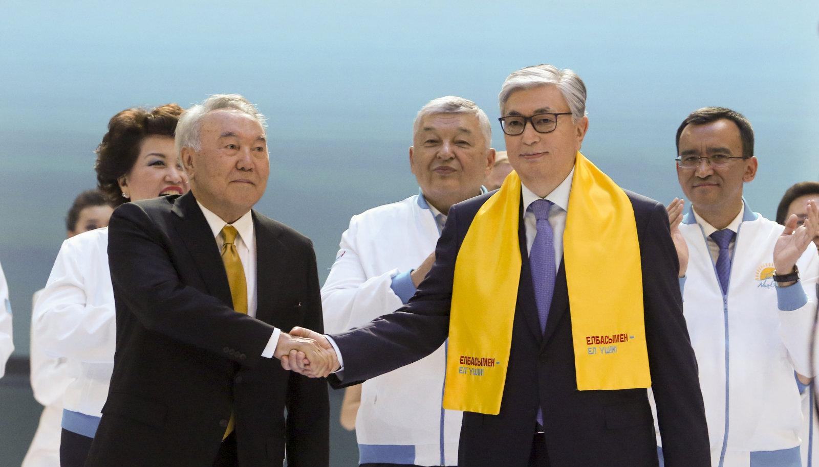 Nursultan Nazarbajev ja Kasõm-Žomart Tokajev