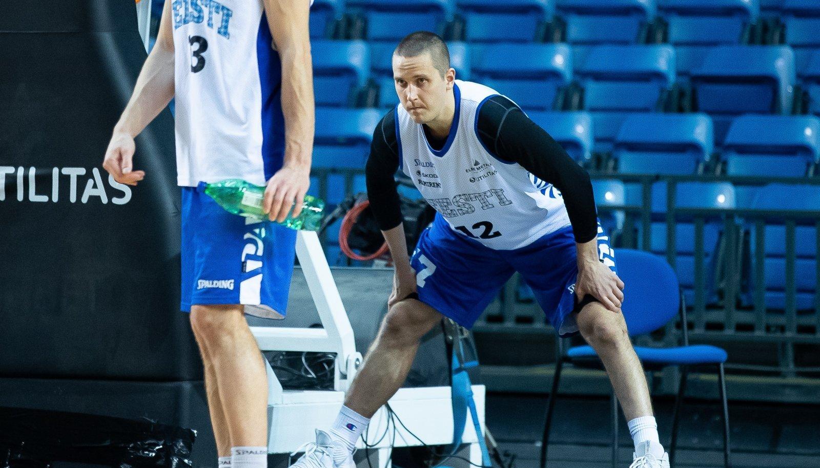 Tallinn, 22.02.2020. Eesti korvpallikoondise avatud treening Saku Suurhallis.