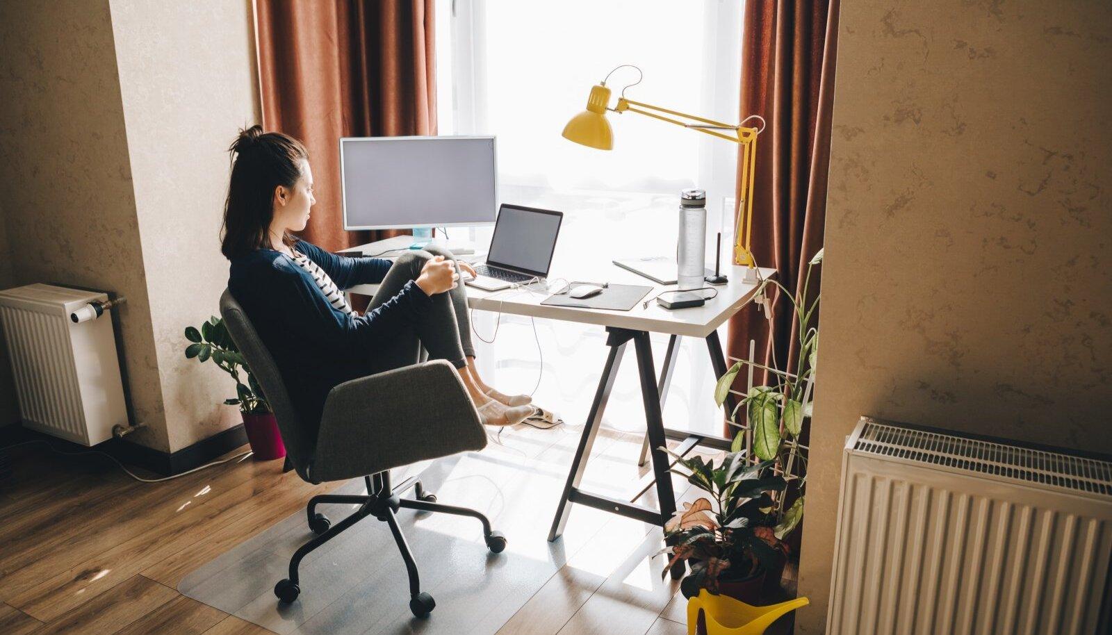 Kodus töötades tuleb leida sobiv töörütm ja püüda tööaega vabast ajast lahus hoida.