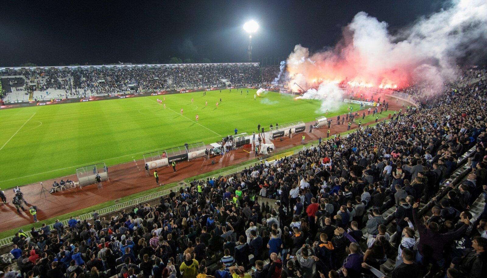 Belgradi Partizani koduareen, kus Eesti jalgpallikoondis teenis ilmselt oma seni kõige meeldejäävama võidu.