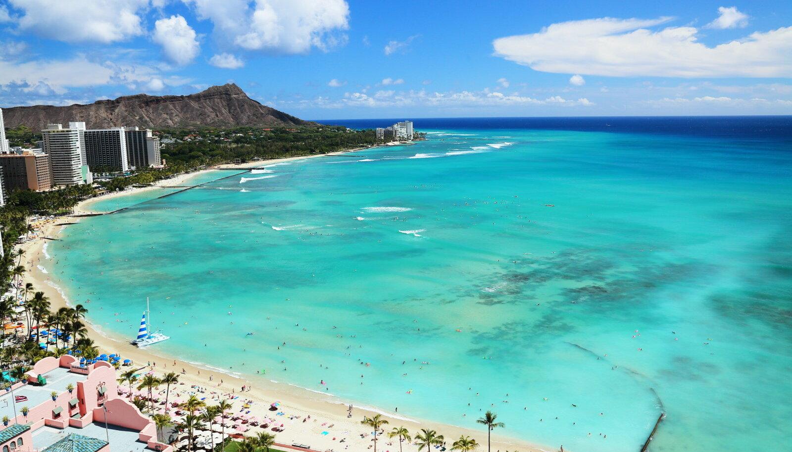 Waikiki rand Honolulus