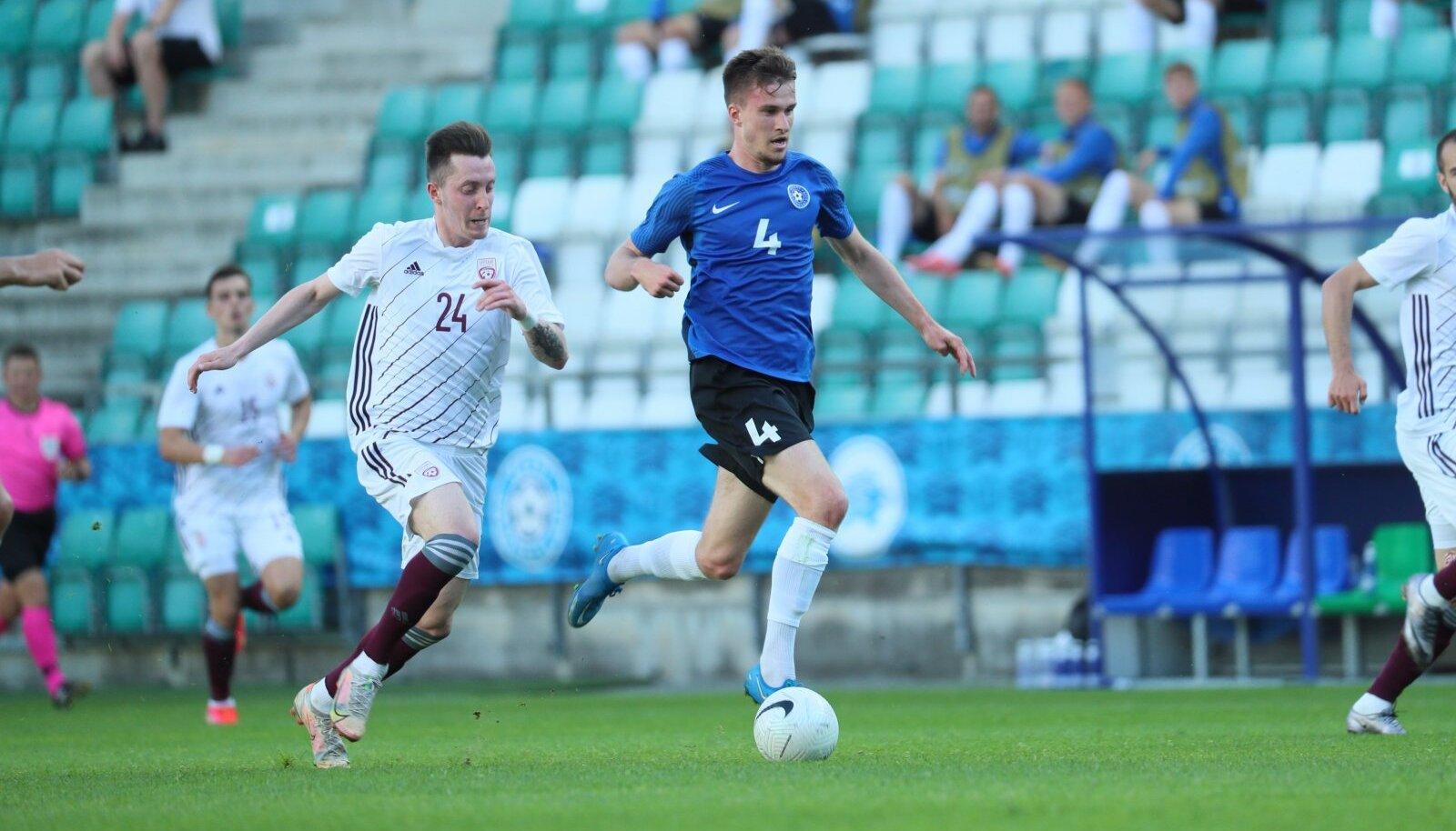 Mattias Käit lõi kaks väravat, kuid pidi peatrauma tõttu mängu pooleli jätma.